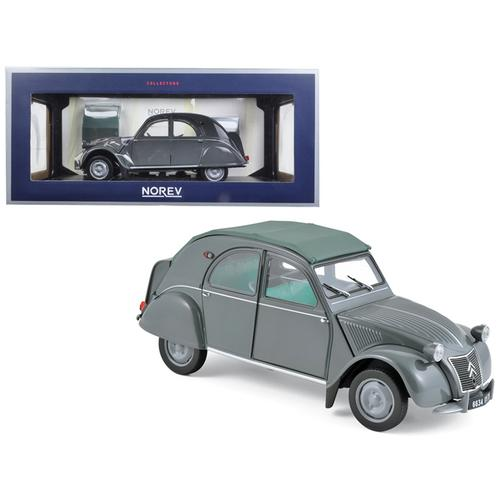1957 Citroen 2CV AZL Malle Bombee Grey 1/18 Diecast Model Car by Norev