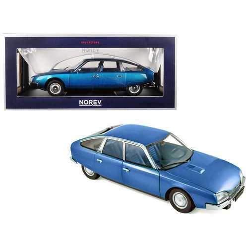 1974 Citroen CX 2000 Delta Blue Metallic 1/18 Diecast Model Car by Norev