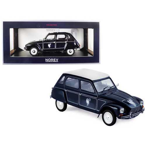 1977 Citroen Dyane 6 Caban Dark Blue 1/18 Diecast Model Car by Norev