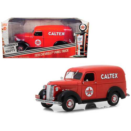"1939 Chevrolet Panel Truck ""Caltex"" Red Running on Empty Series 1/24 Diecast Model Car by Greenlight"