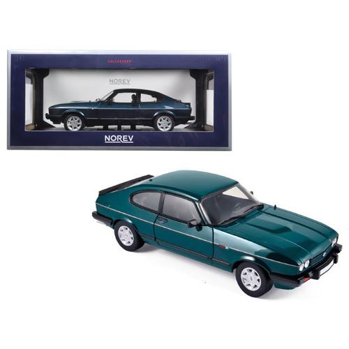 """1986 Ford Capri 280 """"Brooklands"""" Green Metallic Limited Edition to 1038pcs 1/18 Diecast Model Car by Norev"""