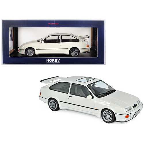 1986 Ford Sierra RS Cosworth White 1/18 Diecast Model Car by Norev