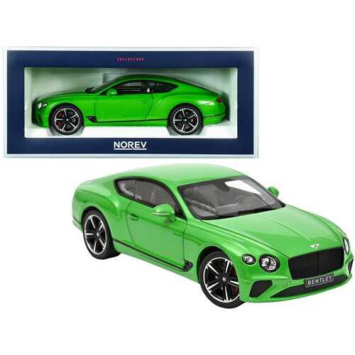 2018 Bentley Continental GT Apple Green Metallic 1/18 Diecast Model Car by Norev