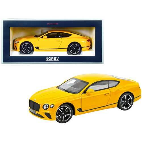 2018 Bentley Continental GT Monaco Yellow 1/18 Diecast Model Car by Norev