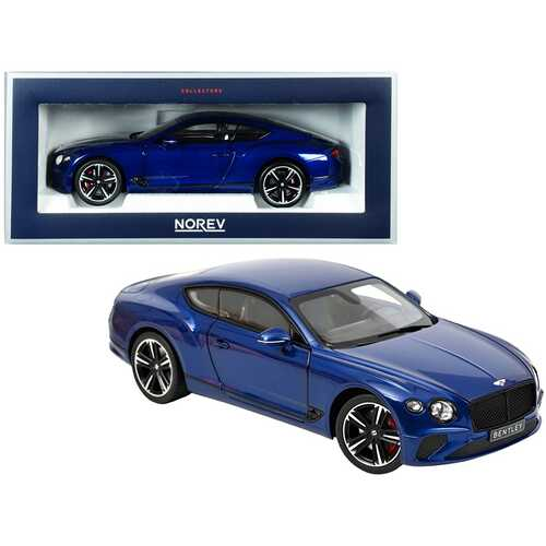 2018 Bentley Continental GT Sequin Blue Metallic 1/18 Diecast Model Car by Norev
