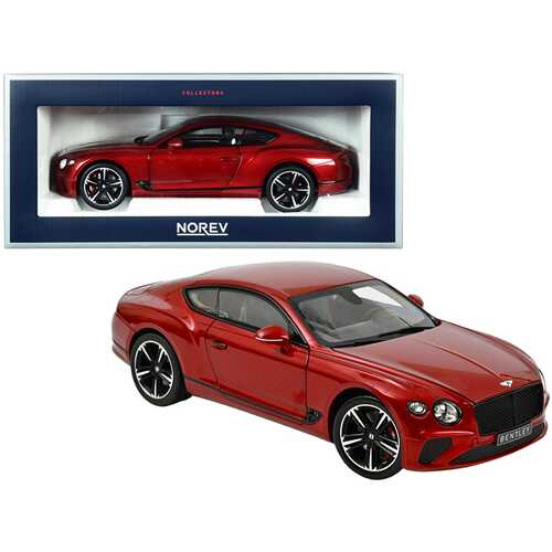 2018 Bentley Continental GT Candy Red Metallic 1/18 Diecast Model Car by Norev
