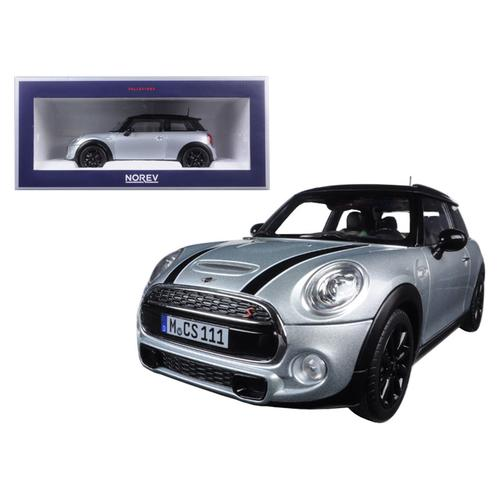 2015 Mini Cooper S Silver Metallic and Black 1/18 Diecast Model Car by Norev