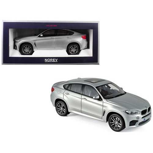 2015 BMW X6 M Silver Metallic 1/18 Diecast Model Car by Norev