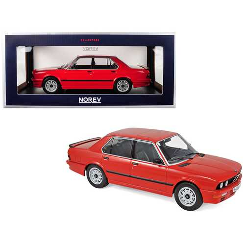 1986 BMW M535i Red 1/18 Diecast Model Car by Norev