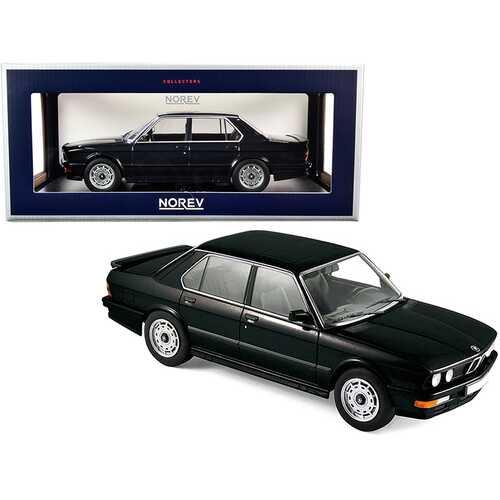 1986 BMW M535i Black Metallic 1/18 Diecast Model Car by Norev