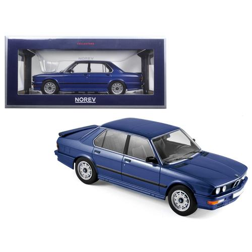 1987 BMW M535i Blue Metallic 1/18 Diecast Model Car by Norev
