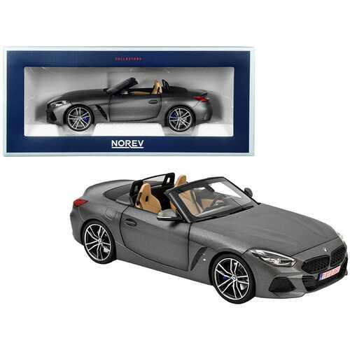 2018 BMW Z4 Convertible Matt Dark Gray Metallic 1/18 Diecast Model Car by Norev