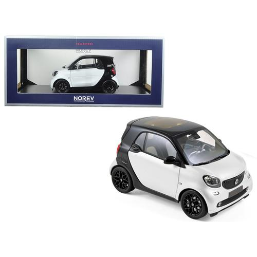 2015 Smart For Two Black and White 1/18 Diecast Model Car by Norev