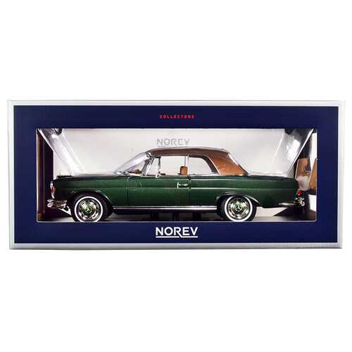 1969 Mercedes Benz 280SE Convertible Green Metallic with Brown Top 1/18 Diecast Model Car by Norev