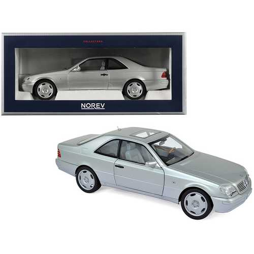 1997 Mercedes Benz CL600 Coupe Metallic Silver 1/18 Diecast Model Car by Norev