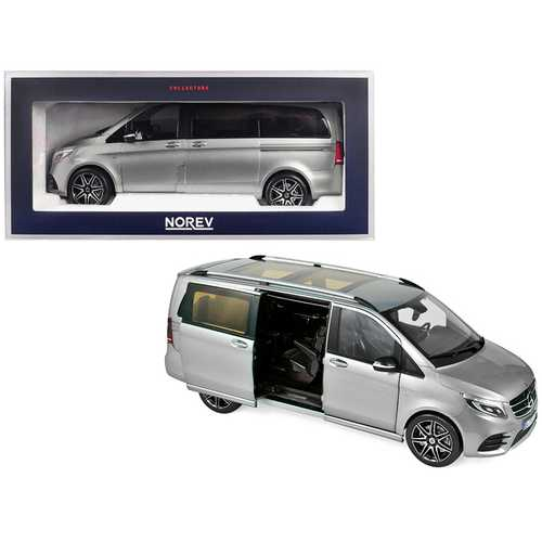2018 Mercedes Benz V-Class AMG Line Van Gray Metallic 1/18 Diecast Model Car by Norev