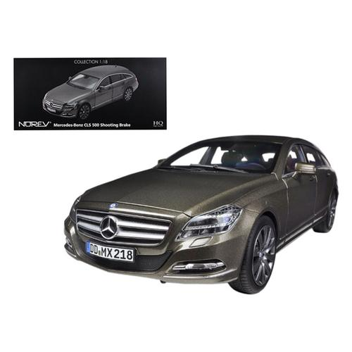 2012 Mercedes CLS 500 Wagon Shooting Brake Indium Gray 1/18 Diecast Model Car by Norev