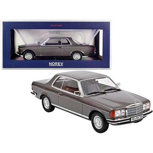 1980 Mercedes Benz 280 CE Anthracite Gray Metallic 1/18 Diecast Model Car by Norev