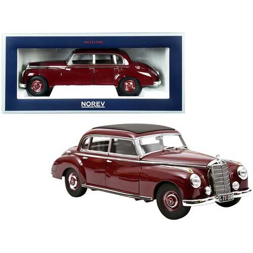 1955 Mercedes Benz 300 Dark Red with Black Top 1/18 Diecast Model Car by Norev