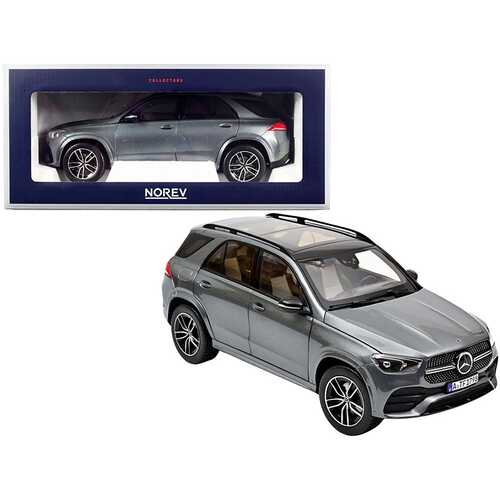 2019 Mercedes Benz GLE with Sunroof Gray Metallic 1/18 Diecast Model Car by Norev