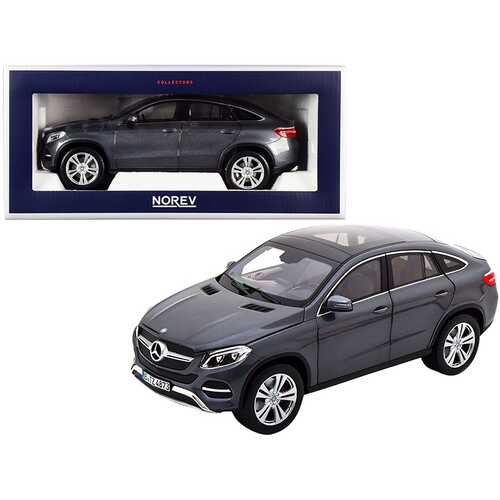 2015 Mercedes Benz GLE Coupe Dark Gray Metallic 1/18 Diecast Model Car by Norev