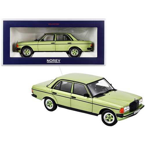 1984 Mercedes Benz 200 with AMG Bodykit Silvergreen Metallic 1/18 Diecast Model Car by Norev