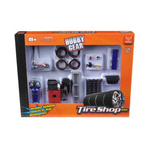 Repair Tire Shop Accessories Tool Set for 1/24 Scale Models by Phoenix Toys