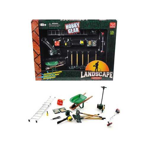 """Landscape Service"" Accessories Set for 1/24 Scale Models by Phoenix Toys"