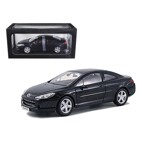 Peugeot 407 Black 1/18 Diecast Model Car by Norev