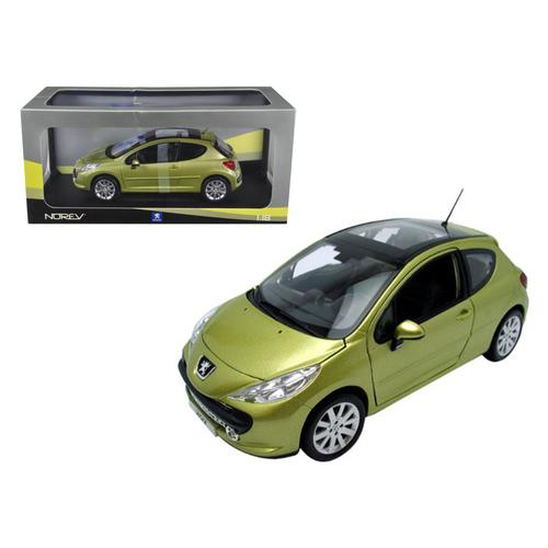 Peugeot 207 Gold 1/18 Diecast Model Car by Norev