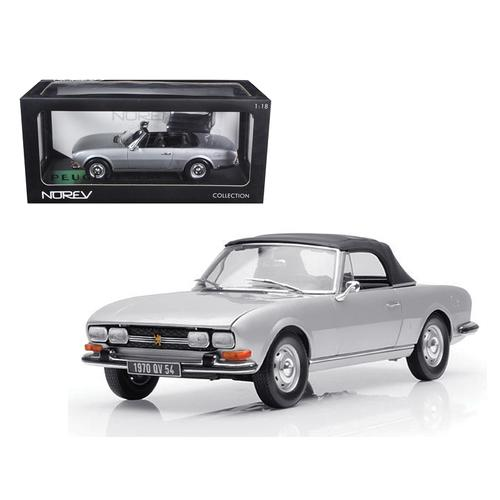 1971 Peugeot 504 Cabriolet Grey 1/18 Diecast Car Model by Norev
