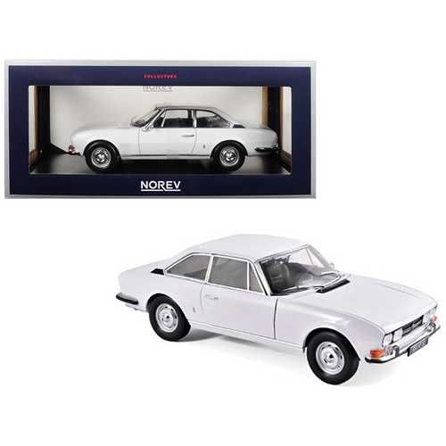 1969 Peugeot 504 Coupe Arosa White 1/18 Diecast Model Car by Norev