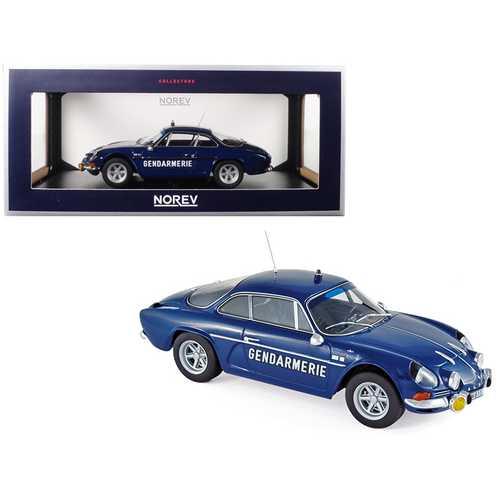 "1971 Renault Alpine A110 1600S ""Gendarmerie"" Dark Blue 1/18 Diecast Model Car by Norev"