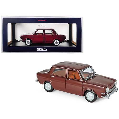 1974 Simca 1000 LS Amarante Red 1/18 Diecast Model Car by Norev
