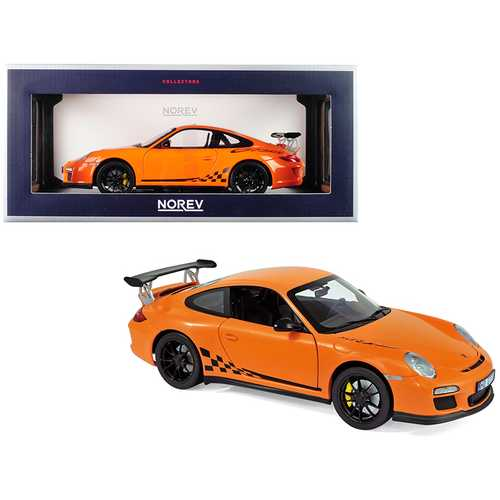 2010 Porsche 911 GT3 RS Orange 1/18 Diecast Model Car by Norev