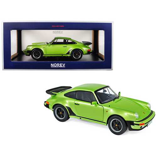 1978 Porsche 911 Turbo 3.3 Silvergreen Metallic 1/18 Diecast Model Car by Norev