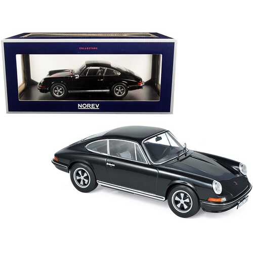 1973 Porsche 911 S Black 1/18 Diecast Model Car by Norev