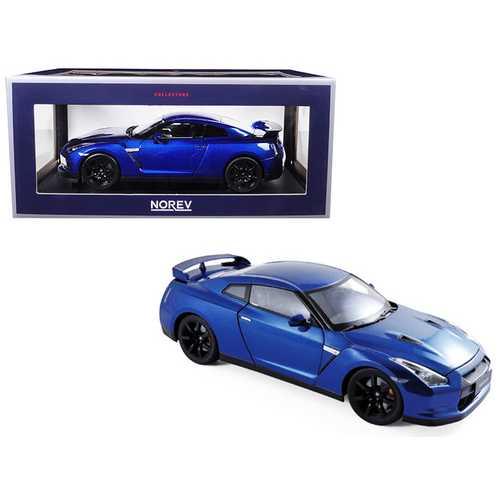 2008 Nissan GTR R-35 Blue 1/18 Diecast Model Car by Norev