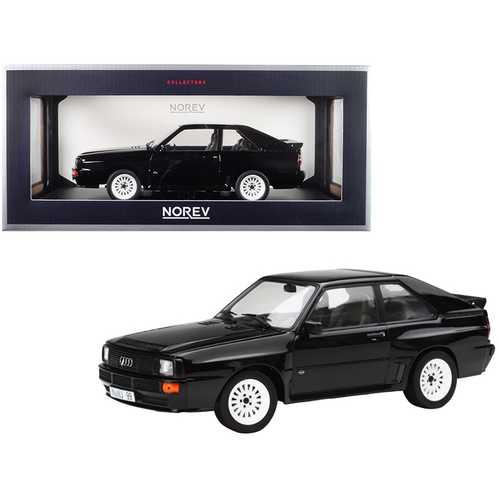 1985 Audi Sport Quattro Black 1/18 Diecast Model Car by Norev