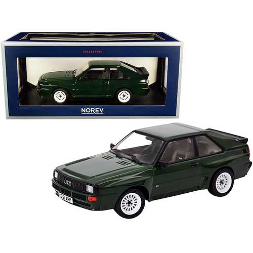 1985 Audi Sport Quattro Dark Green 1/18 Diecast Model Car by Norev