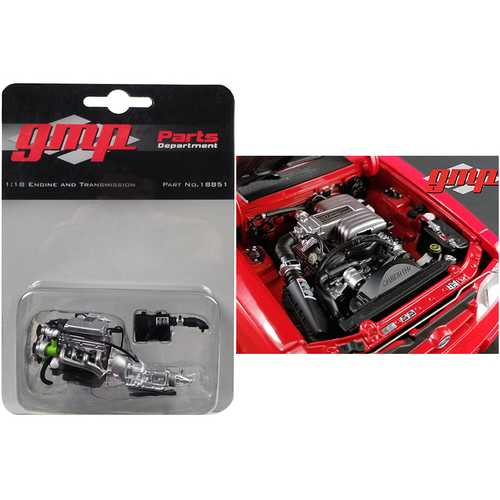 """Ford 5.0 Engine and Transmission Replica from """"1992 Ford Mustang LX"""" 1/18 Model by GMP"""