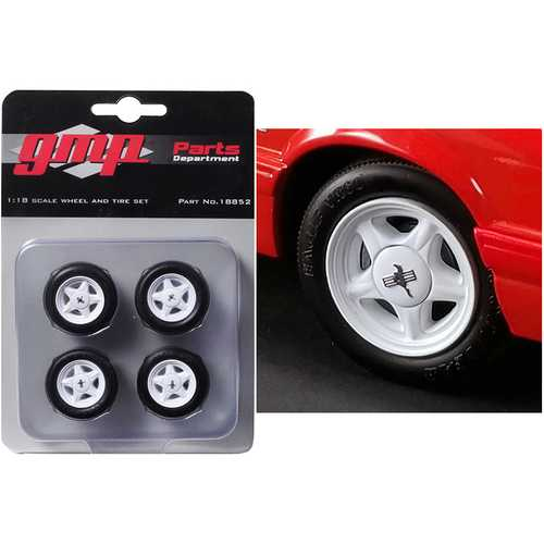 "Pony Wheels and Tires Set of 4 pieces from ""1992 Ford Mustang LX"" 1/18 by GMP"
