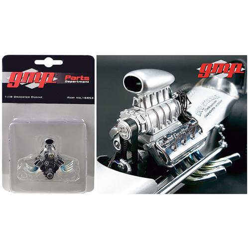 """Engine and Transmission Replica Blown Drag from """"The Chizler V"""" Vintage Dragster 1/18 Model by GMP"""