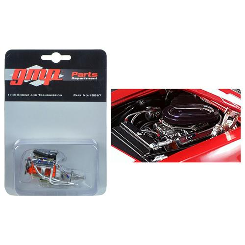Engine and Transmission Replica from 1967 Chevrolet Camaro Z/28 Trans Am 302 Chevy-Land Heinrich 1/18 Model by GMP