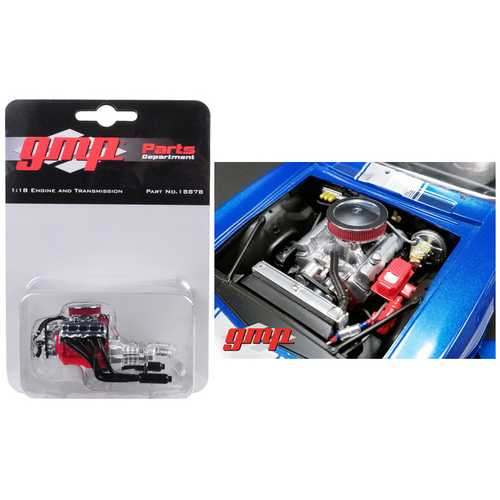 Engine and Transmission Replica Big Block Chevrolet Drag Engine from 1969 Chevrolet Camaro 1/18 by GMP