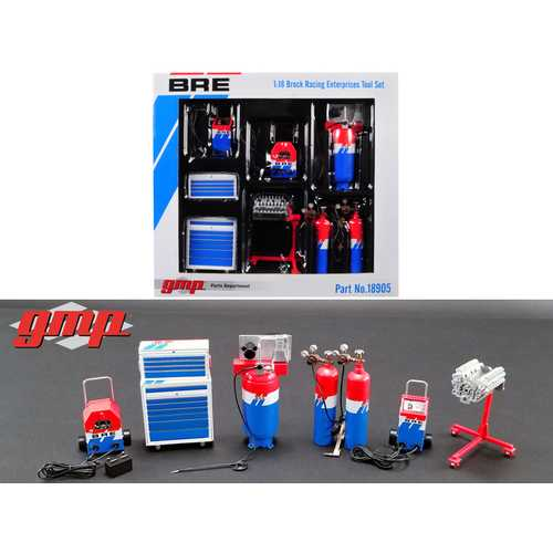 "6 piece Garage Shop Tools Set #1 ""Brock Racing Enterprises"" (BRE) 1/18 Diecast Replica by GMP"