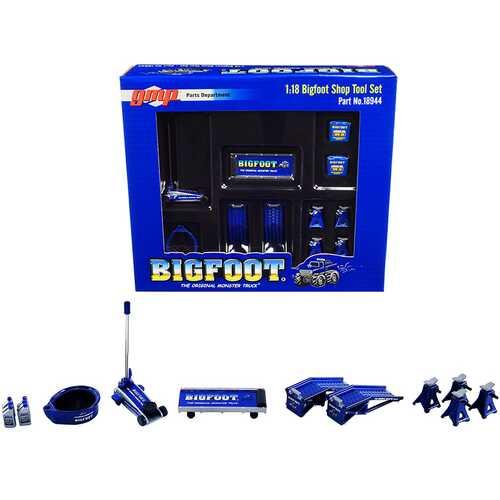 "Shop Tool Set of 6 pieces ""Bigfoot #1 The Original Monster Truck"" 1/18 Diecast Replica by GMP"