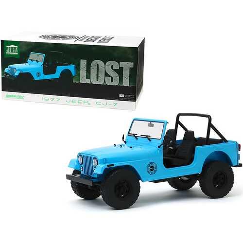 "1977 Jeep CJ-7 ""Dharma"" Blue ""Lost"" (2004-2010) TV Series 1/18 Diecast Model Car by Greenlight"