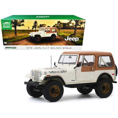 "1979 Jeep CJ-7 Golden Eagle ""Dixie"" Cream 1/18 Diecast Model Car by Greenlight"