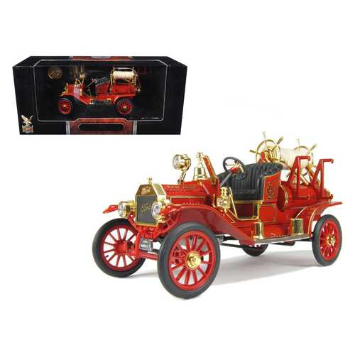 1914 Ford Model T Fire Engine Red 1/18 Diecast Model by Road Signature